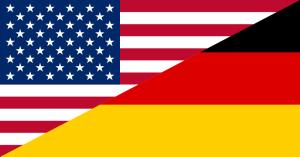 usa german flag