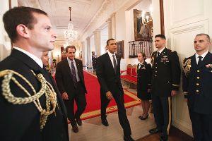 President Obama and Coach Nick Saban