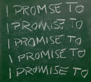 I promise to